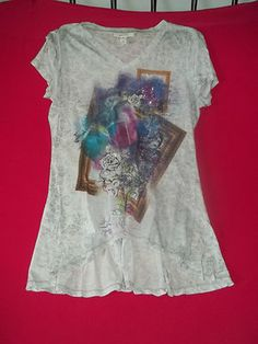Style  Co. Tunic Top Size M Medium Women - Polyester - Beautiful Beaded Colors