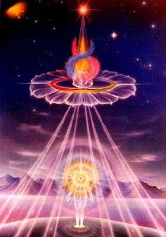 The triple Flame of Sanat Kumara and his flame twin: Lady Venus.