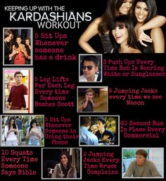 Keeping Up With The Kardashian Workout for Sunday T.V.!