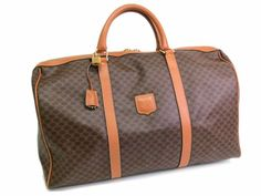 Celine Macadam Pattern Boston Bag PVC/Leather Brown (BF055838)