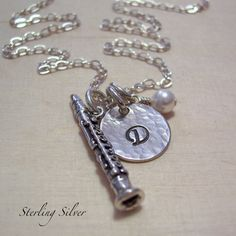 Personalized Necklace  Clarinet Charm by MadisonCraftStudio, $35.00