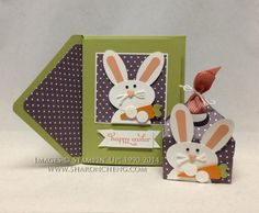 Punch Art Easter Bunny Card and Coordinating Envelope