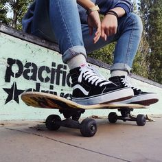 Sk8-Hi's and skateboards. I would loveee to buy these sneakers for my bday which is coming up. I would always use those Vans Sk8-hi's to skateboard w/ my friends :)