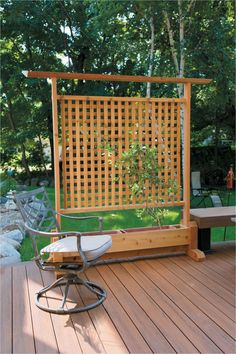 Diy Privacy Planter Special Outdoor Privacy Screen with Planters – Fred Hamilton Outdoor Privacy Screen Panels, Backyard Privacy Screen, Privacy Planter, Porch Privacy, Garden Privacy, Small Pergola, Pergola Patio, Diy Patio, Patio Wall