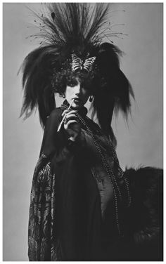 Marisa Berenson Dressed as Marchesa Luisa Casati at Le Bal Proust, or The Proust Ball Photo Cecil Beaton 1971