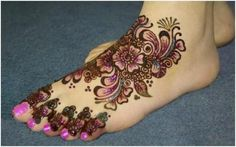 Bridal Stylish Feet Mehndi Design Collection 2012-2013 for Women