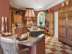 Traditional Kitchen - Checkerboard Floors - Bay Colony Golf Estates - Naples, Florida