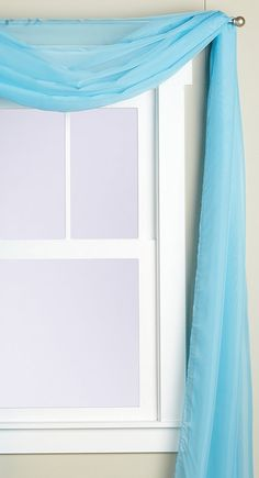 Editex Home Textiles Monique Sheer Window Scarf, 58 by 216-Inch, Aqua * Read more reviews of the product by visiting the link on the image. (This is an affiliate link) #WindowTreatments