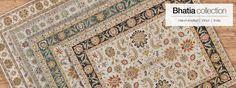 Bhatia Collection   Feizy Rugs - Beautifully hand-knotted Bhatia arrives from India to enchant your living spaces. Traditional patterns with striking borders sing songs in notes of creams and coffees, accented with strategic pops of color. Both fine and functional, 100% wool pile makes the Feizy Bhatia Collection a pleasure to walk on and an excellent choice for popular areas with high traffic.