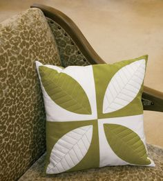 Jen Daly's Green Tea pillow in QN's Best Modern Quilts 2014