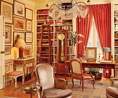 Library of Anthony Hail in Architectural Digest