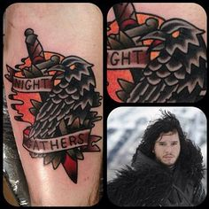 "Jon Snow would be 1000% more interesting if he had this tat. | 27 Breathtakingly Badass ""Game Of Thrones"" Tattoos"