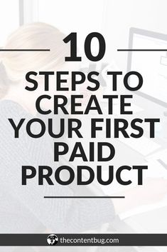 Are you ready to create your first paid product? Find out how you can come up with a successful idea for a paid product & create it in less than 2 months. Make Money Blogging, Make Money Online, How To Make Money, Business Tips, Online Business, Business Education, Craft Business, Business Design, Content Marketing