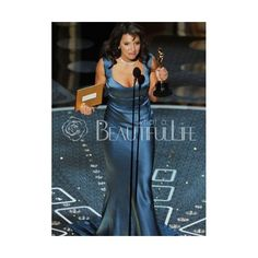 Celebrity Dress - Elastic Woven Satin Sweep Train Scoop Sheath/Column Celebrity Dress (230 AUD) found on Polyvore