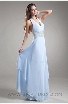 Princess V-neck Dress #blue #dress