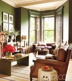 Interior Design Fall Winter trends - Dark green