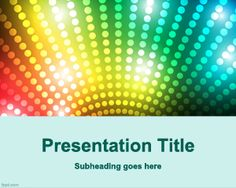 Game show PowerPoint template for night shows and parties in PowerPoint