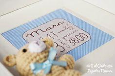 Cuadro de nacimiento para regalar — Decoracion Bebes