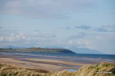 Beautiful Termonfeckin beach with the Mourne mountains in the background