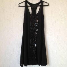 Vestido Preto Lantejoulas - 969802 | enjoei :p