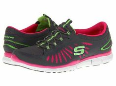 Women's Skechers Gratis-In Motion Sneakers - Charcoal/Hot Pink (#22169) (8.5, Charcoal/Hot Pink) Footmarks Shoes. $53.99