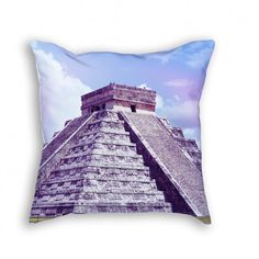 """Throw Pillow with Stuffing/Insert – """"El Castillo"""" 