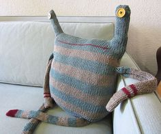ORIGINAL  Beast Pillow  No.164 Rolf by debivanzyl on Etsy