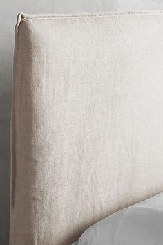 Belgian Linen Carlier Slipcover Headboard - anthropologie.com