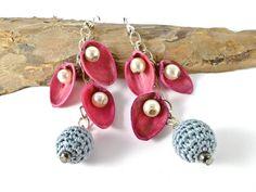 Handmade Earrings with pistachio nut shells Funny by SandyCraftUK