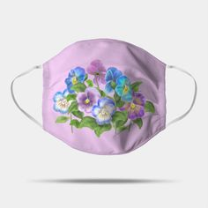 Shop Beautiful Pansy Flowers Violet Viola Tricolor Floral Pattern floral pansy flowers violet viola masks designed by sofiartmedia as well as other floral pansy flowers violet viola merchandise at TeePublic. Printer Ink Cartridges, Animal Birthday, Cool Walls, Mask Design, Pansies, Colorful Flowers, Fitness Tips, Face Masks, Kids Outfits