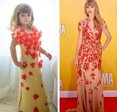 this adorable little girl makes the most amazing dresses out of paper {Fashion by Mayhem}