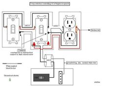 83 Best Home images in 2019 | Home electrical wiring, Outlet ...  Way Switch Wiring Diagram Variation on 3-way switch circuit variations, 3 way light switch, 3 way dimmer wiring diagram,
