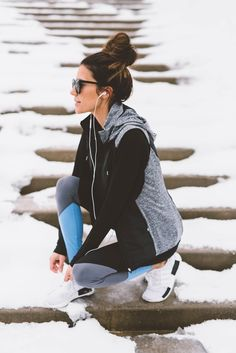 "New workout pieces for winter weather [ ""Hello Fashion 2017 goals"", ""christine andrew workout style"", ""Workout look in grey + black + blue"" ] # # # # # # # # # # Workout Attire, Workout Wear, Workout Style, Workout Tips, Workouts, Sport Style, Winter Coats, Athletic Outfits, Gym Outfits"