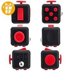 Gute Qualität Schwarz Rot zappeln Cube Spielzeug Angst Stress Aufmerksamkeit Relief - Fidget spinner (*Partner-Link)