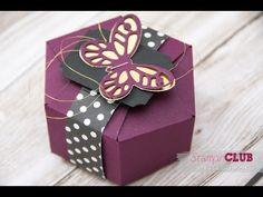 Stampin' Up! Hexagon Box mit dem Stanz- und Falzbrett für Geschenktüten - YouTube