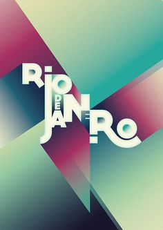 Rio de Janeiro by Lucia Soto, via Behance Word or logo's with colors on shirts or Jackets or tees
