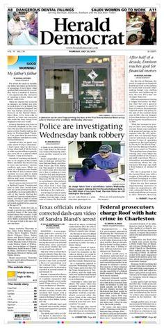 #Newspaper #Frontpage heralddemocrat.com