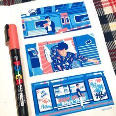 Marker Kunst, Posca Marker, Marker Art, Kunstjournal Inspiration, Sketchbook Inspiration, Art And Illustration, Cartoon Illustrations, Art Sketches, Art Drawings