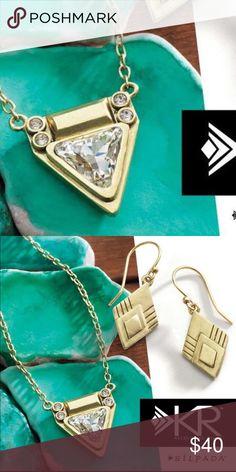 Silpada necklace New! Beautiful Swarovski crystal and brass silpada necklace. Silpada Jewelry Necklaces