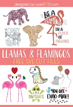 Free Llamas, Flamingos, and Elephants SVG Cut Files Free Disney SVG files - DOMESTIC HEIGHTS 50 free Christmas Cut files for Silhouette and Cricut!A great list of 50 free Christmas files for your cricut or Cricut Vinyl, Cricut Craft Room, Cricut Fonts, Cricut Svg Files Free, Free Svg Cut Files, Stencils, Stencil Templates, Cricut Tutorials, Silhouette Projects