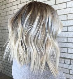 Perfect Ice Blonde Lob for Winter