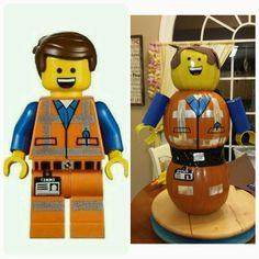 Emmet Lego Movie pumpkin.