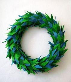Cute felt wreath - inspiration only, no instructions