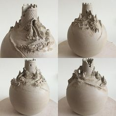 "Unfired 7"" 'Tower on a hill' …bottle :-) earthwoolfire@gmail.com"