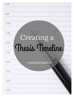 Keep track of your Master's thesis deadlines by creating a thesis timeline. | www.gradschoolstruggle.com