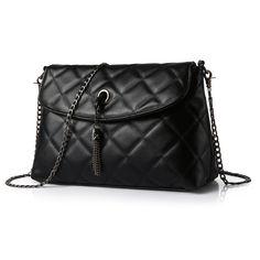 296e9d0dcc5a Plaid Small Fringe Embroidery Clutches Women Crossbody Black Bag Quilted  Flap Shoulder Bag Women Messenger Chain · Best HandbagsFashion ...