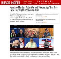 Nemtsov Murder: Putin Warned 3 Years Ago That This False Flag Might Happen (Video) 28 feb 2015 http://aristeguinoticias.com/0203/mexico/prensa-extranjera-vincula-captura-de-la-tuta-con-reacomodo-de-murillo-y-de-gomez-a-la-pgr/