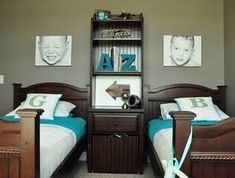 love these colors for boy and girl shared room lime green and teal.. maybe add a pop of dark purple ;) Boy And Girl Shared Room, Boy Or Girl, Shared Boys Rooms, Little Boys Rooms, Shared Bedrooms, Coloring For Boys, Girls Bedroom, Bedroom Decor, Bedroom Designs
