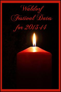 Waldorf Festival dates for the 2013-14 School Year