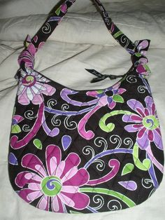 """Authentic Vera Bradley """"Purple Punch"""" Shoulder Bag NWT. Starting at $23 on Tophatter.com!"""